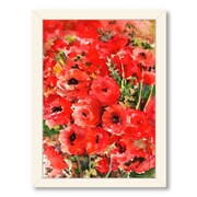 Americanflat Buttercups by Suren Nersisyan Framed Painting Print in Red; Black