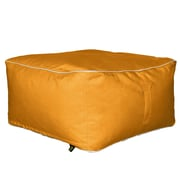 Hip Chik Chairs Outdoor Square Ottoman; Melon