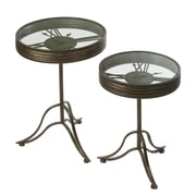 Tripar Industrial Side Table with Clock Face (15415)
