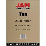 JAM Paper® 28lb Paper, 8 1/2 x 11, Tan, 50/Pack (16729207)