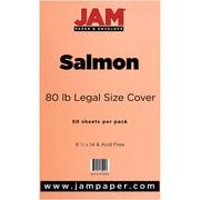 JAM Paper® 80lb Legal Cardstock, 8 1/2 x 14, Salmon Pink, 50/Pack (16729362)