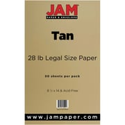 JAM Paper® 28lb Legal Paper, 8 1/2 x 14, Tan, 50/Pack (16729541)