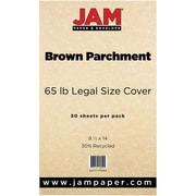JAM Paper® Recycled Legal Cardstock, 8 1/2 x 14, Brown Parchment, 50/Pack (17128861)