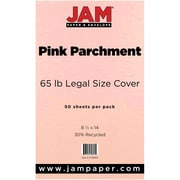 JAM Paper® Recycled Legal Cardstock, 8 1/2 x 14, Pink Parchment, 50/Pack (17128865)