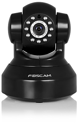 Foscam FI9816PB Plug and Play 720P HD H.264 Wireless Wired Pan Tilt IP Camera 26ft Night Vision Black