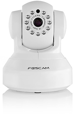 Foscam FI9816P Plug and Play 720P HD H.264 Wireless Wired Pan Tilt IP Camera 26 Feet Night Vision Camera White