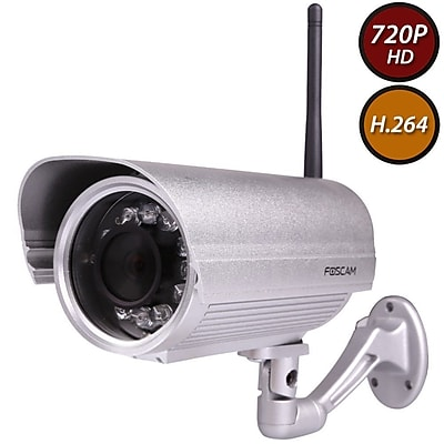 FosCam FI9804PS 720P Outdoor HD Wireless IP Camera Silver