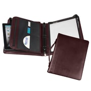 Regal™ Genuine Leather Zipper Ring Binder Portfolios