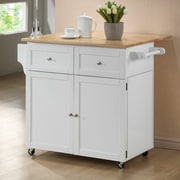 Wildon Home   Carol Kitchen Cart with Butcher Block Top