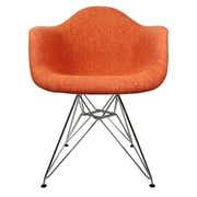 eModern Decor Mid Century Modern Arm Chair; Orange