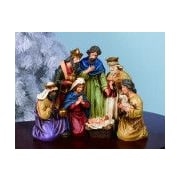 Transpac Imports, Inc Christmas Nativity with Holy Family and Wise Men Figurine