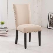 NOYA USA Classic Parsons Chair (Set of 2); Creamy Beige