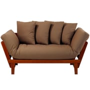 Casual Home Casual Lounger Futon; Oak Frame / Khaki Fabric