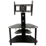 Hodedah Howard Glass TV Stand with Mount