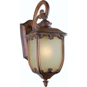 Forte Lighting 1 Light Outdoor Wall Lantern; 15'' H x 6'' W / Rustic Sienna / Umber Linen