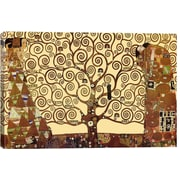 iCanvasArt 'The Tree of Life' by Gustav Klimt Painting Print on Canvas; 41'' H x 61'' W x 1.5'' D