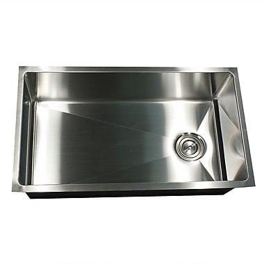 Nantucket Sinks Pro Series 32'' x 18'' Small Radius Stainless Steel Kitchen Sink