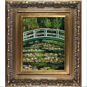 Tori Home The Japanese Bridge by Monet Framed Hand Painted Oil on Canvas