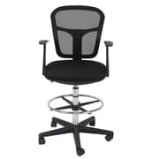 Studio Designs Riviera Mid-Back Mesh Drafting Chair with Arms
