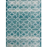 AMER Rugs Shibori Sea Blue/White Area Rug; 7'6'' x 9'6''