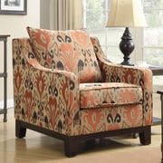 Ave Six Regent Arizona Polyester Club Chair; Rust