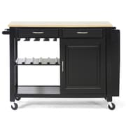 Wholesale Interiors Baxton Studio Kitchen Island with Wooden Top