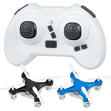 Teeny Drones TD003-BB Worlds Smallest Drone, Fly 1 Charge 1 Pack, Blue & Black