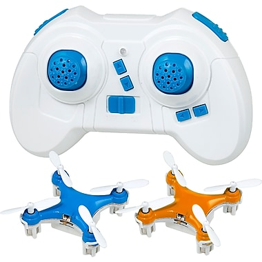 Teeny Drones TD003-BLO Worlds Smallest Drone, Fly 1 Charge 1 Pack, Blue & Orange