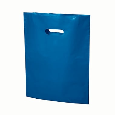 B2B Wraps – Sacs découpés, couleurs mode unies, 13 po x 17 po, bleu royal, paq./500