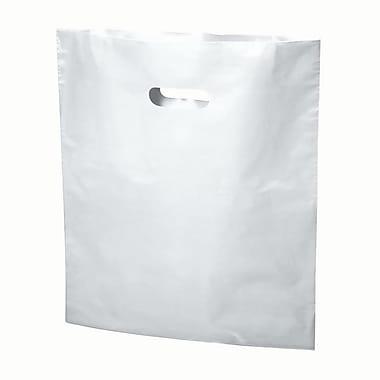 B2B Wraps – Sacs découpés, couleurs mode unies, 17 po x 19 po, blanc, paq./500