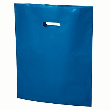 Die-Cut Handle Bags Solid Fashion Colours - 20 x 23