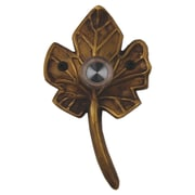 Waterwood Hardware Brass Small Leaf Doorbell; Antique Brass