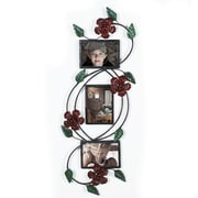 AdecoTrading Collage Wall Hanging 3 Opening Rose Scroll Picture Frame