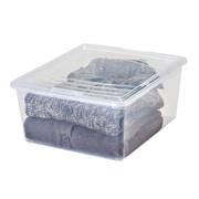 IRIS 21 Quart Sweater Storage Box (Set of 14); Clear