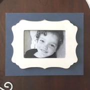 Thistle & Poppy Snap Point Picture Frame; Navy/White