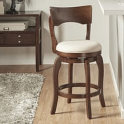 Kingstown Home Monaghan 24'' Swivel Bar Stool with Cushion; Beige