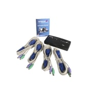 StarTech SV411K 4-Port PS/2 KVM Switch Kit with Cables