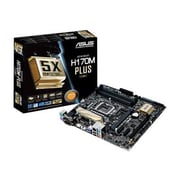 ASUS Desktop Motherboard, Intel H170 Chipset, Micro ATX (H170M-PLUS/CSM)