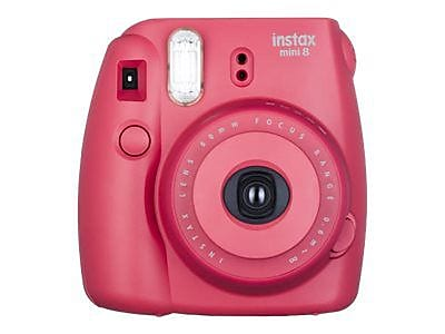 Fujifilm instax mini 8 Instant Camera, Raspberry, 2/Pack