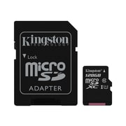 Kingston® SDC10G2/128GB 128GB microSDXC UHS-I Memory Card with SD Adapter