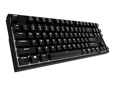 Cooler Master SGK-4040-GKCM1 QuickFire Rapid-i USB Wired Mechanical Gaming Keyboard, Black\/Brown