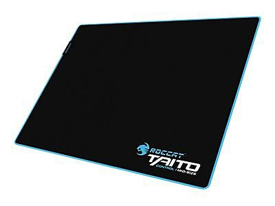 Roccat Taito Cloth\/Rubber 15.7 x 12.5 Black\/Blue Control Endurance Gaming Mouse Pad, ROC-13-170-AM
