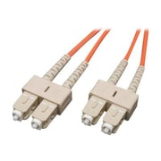 Tripp Lite N306-05M 5m SC Male/Male 62.5/125 OM1 Duplex Multimode Fiber Optic Patch Cable, Orange