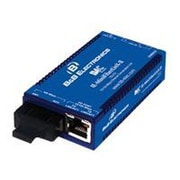 B+B SmartWorx IE-MiniMC Fast Ethernet ST Port Industrial Media Converter, Blue (855-19720)