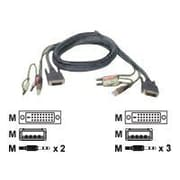 Iogear G2L8D02U 6' Black DVI-D to USB 2.0 KVM Cable for GCS1762/4, GCS1102/4 KVMP