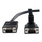 StarTech 10' VGA Male to VGA Male Coaxial High Resolution 90 deg Down Angled Monitor Cable, Black