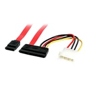 "StarTech.com 6"" SATA Serial ATA Data and Power Combo Cable, Red"
