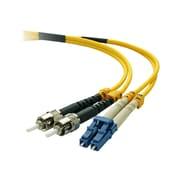 Belkin F2F802L0-05M 5m LC/ST Male/Male 8.3/125 OS1 Duplex Singlemode Fiber Optic Cable, Yellow