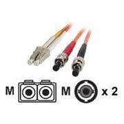 StarTech FIBLCST10 32.8' LC/ST Male/Male 62.5/125 OM1 Duplex Multimode Fiber Optic Cable, Orange