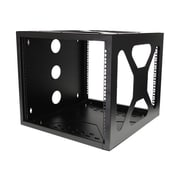 StarTech Wall/Side Mount Open Frame Rack Cabinet, Black